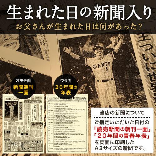 60年前の記念日の新聞付き